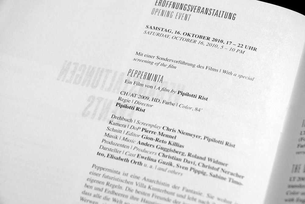 Cologne Kunstfilm-Biennale in Berlin, Booklet & Poster