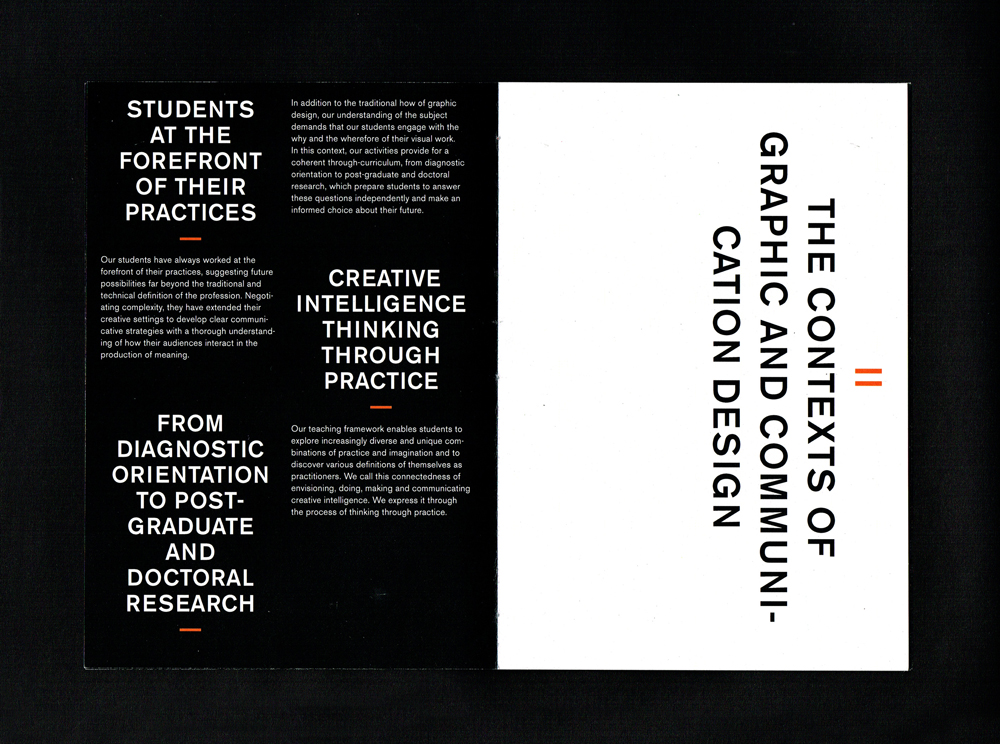 Central Saint Martins, Various booklets