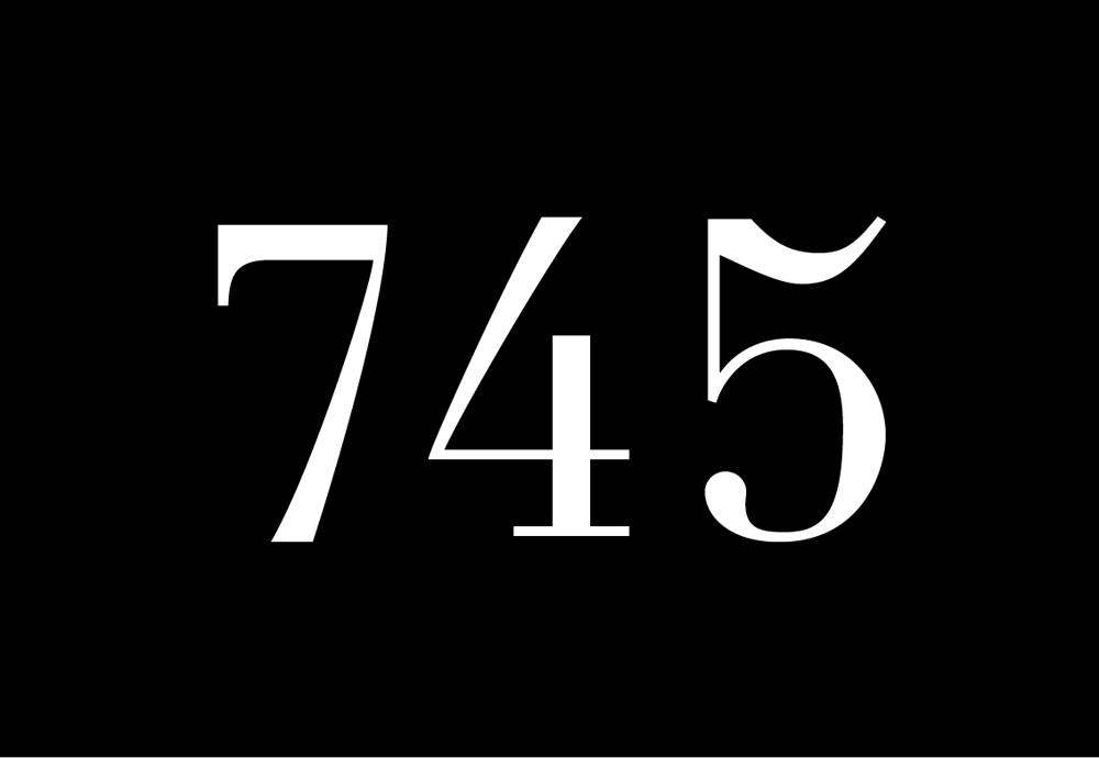 7 Mahnungen, Typography